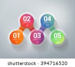 five steps infographics. can... | Shutterstock .eps vector #394716520