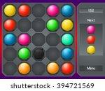 match 3 game vector graphics... | Shutterstock .eps vector #394721569