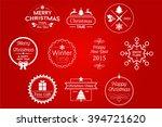 christmas badges white vector... | Shutterstock .eps vector #394721620