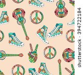seamless pattern with colorful... | Shutterstock .eps vector #394722184