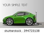 vector modern cartoon car ... | Shutterstock .eps vector #394723138