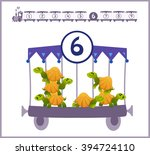 train with numbers and animals... | Shutterstock .eps vector #394724110