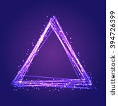 triangles abstract background.... | Shutterstock .eps vector #394726399
