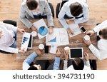 business  people  statistics... | Shutterstock . vector #394731190