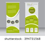 roll up banner stand template.... | Shutterstock .eps vector #394731568