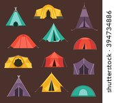 camping tents vector icon.... | Shutterstock .eps vector #394734886