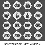 set of money icons for web and... | Shutterstock .eps vector #394738459