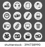 office web icons for user... | Shutterstock .eps vector #394738990