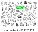 hand drawn vector illustration... | Shutterstock .eps vector #394739194