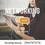 networking connection global... | Shutterstock . vector #394747270