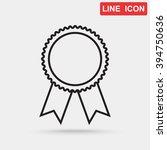 line icon  medal | Shutterstock .eps vector #394750636