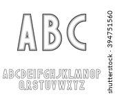 art deco style font letters | Shutterstock .eps vector #394751560