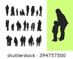 set of couple and family... | Shutterstock .eps vector #394757500