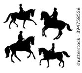 Silhouettes Of Horse Riders....