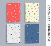 brochure covers set. light...   Shutterstock .eps vector #394767274