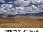 A Wide Steppe With Yellow Gras...