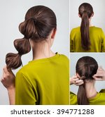 simple casual hairstyle pony... | Shutterstock . vector #394771288