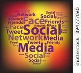 text cloud. social media... | Shutterstock .eps vector #394777060