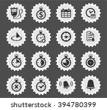 time simply icons for web and... | Shutterstock .eps vector #394780399