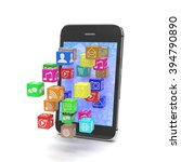 icon app fall in smart phone | Shutterstock . vector #394790890