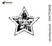 grunge star in black on white... | Shutterstock .eps vector #394793848