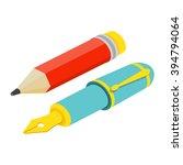 pen and pencil icon image. pen... | Shutterstock .eps vector #394794064