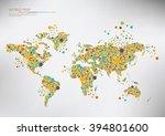 world map circles falling apart....   Shutterstock .eps vector #394801600