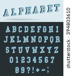 isometric alphabet font with 3d ... | Shutterstock .eps vector #394803610