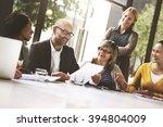 business people meeting... | Shutterstock . vector #394804009