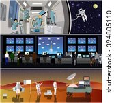 space mission control center.... | Shutterstock .eps vector #394805110