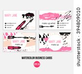 make up  business card template.... | Shutterstock .eps vector #394809010