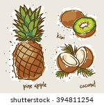 tropical fruits | Shutterstock .eps vector #394811254
