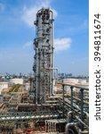 refinery industry tank...   Shutterstock . vector #394811674