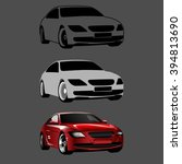 drawing a 3d car in steps... | Shutterstock .eps vector #394813690