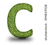 c uppercase alphabet made of...