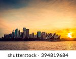 Sydney City View At Sunset  Ns...