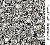 cartoon hand drawn doodles on... | Shutterstock .eps vector #394819948