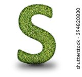s uppercase alphabet made of...