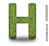 h uppercase alphabet made of...