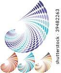 autumn colors retro halftone... | Shutterstock .eps vector #39482263