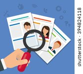 job interview icon design | Shutterstock .eps vector #394824118