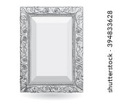 silver vintage frame isolate on ... | Shutterstock .eps vector #394833628