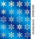 collection of snowflakes on a... | Shutterstock .eps vector #39483385