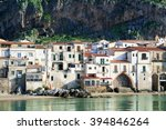 buildings along the coast with... | Shutterstock . vector #394846264