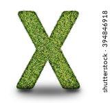 x uppercase alphabet made of...