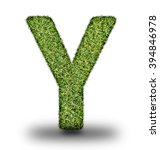 y uppercase alphabet made of...