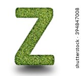 z uppercase alphabet made of...