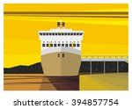 Ship Docking Simple Illustration