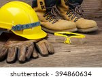 construction safety equipment | Shutterstock . vector #394860634