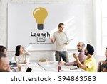 launch start brand introduce... | Shutterstock . vector #394863583